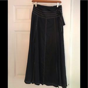 Carol little size 6 linen maxi skirt